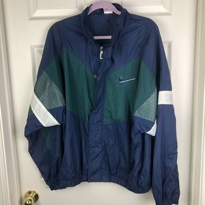 VTG Nike Blue Green Colorblock Windbreaker Jacket